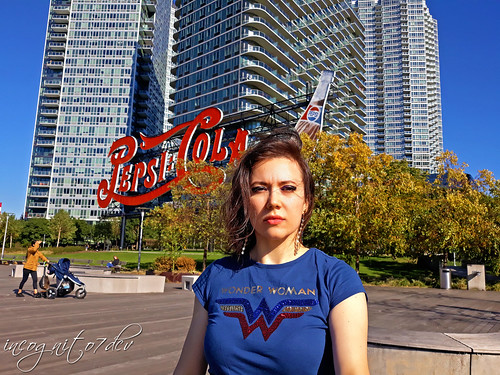 Wonder Me & Pepsi-Cola Sign in Gantry Plaza State Park Long Island City Queens New York City NY P00662 20191024_144127