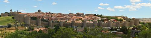 Medieval walls of Ávila. Spain
