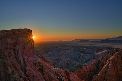 Amazing Sunrise at Font's Point - Anza Borrego Desert State Park, California