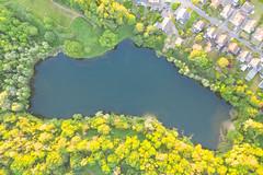 Luftbild vom Wassermannsee in Köln, Deutschland