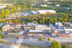 Luftbild der HALLE Tor 2 und der Wassermannhalle in Köln, Deutschland