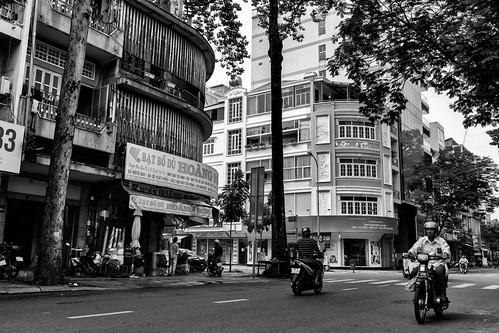 Morning scene in Saigon street
