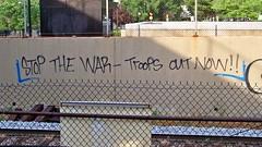 Anti-war graffiti at Brookland