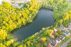 Luftbild vom Wassermannsee und Gewerbepark TRIOTOP in Köln, Deutschland