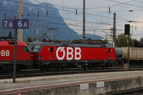1293005-5 OBB  1016037-4 OBB & 1016024-7 OBB at Wörgl Hbf Austria 130519