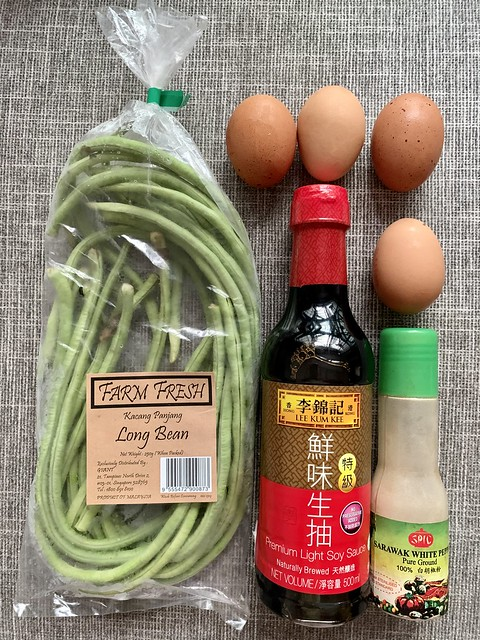 Ingredients for Long Beans with Eggs