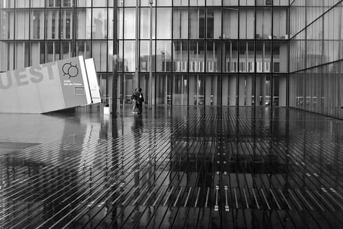 Lovers in rain