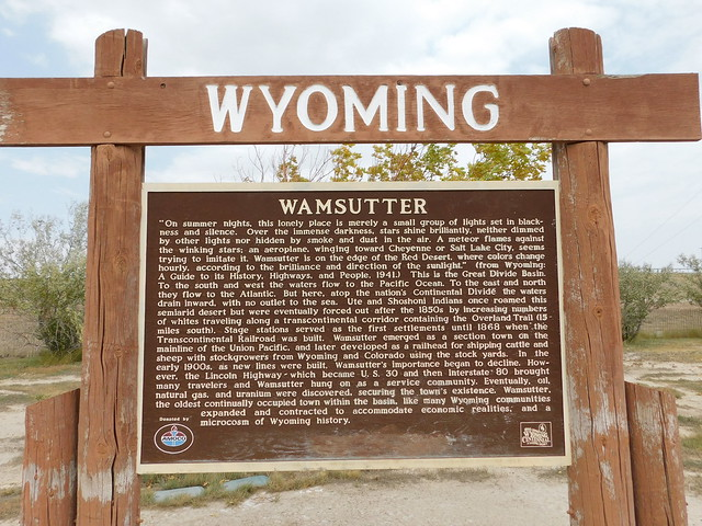 Photo:Wamsutter Historic Marker By jimmywayne