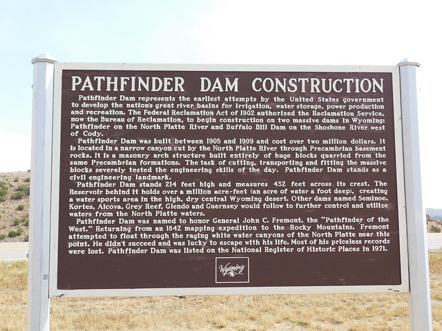 Photo:Pathfinder Dam Construction Historic Marker By jimmywayne