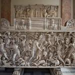 Sarcophage représentant une Amazonomachie, Musée Pio-Clementino, Vatican, 2020 - https://www.flickr.com/people/29248605@N07/