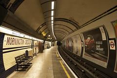 Mornington Crescent Station Southbound Platform