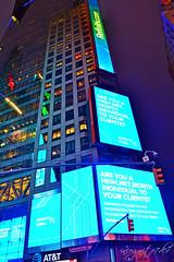 Colorful 3 Times Square Skyscraper at Night Manhattan New York City NY P00667 DSC_2018