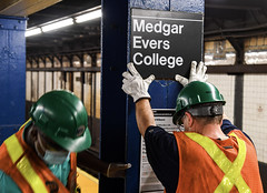 Medgar Evers College Station Signs