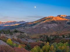 Autumn Moonrise Colorado: Telluride Autumn Colors Fall Foliage Colorado Aspens Fuji GFX100 Fine Art Landscape Nature Photography! Elliot McGucken 45EPIC Master Medium Format Photographer Fuji GFX 100 & Fujinon Fujifilm GF Lens!