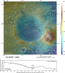 New topographic map of Jezero Crater – Mars 2020's future home