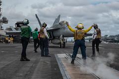 USS Ronald Reagan (CVN 76) conducts flight operations.