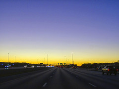 I-20 West approaching US-287 at Dusk, 29 Dec 2019