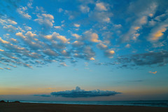 A Cloud Looking Like an Aircraft Carrier off of the Beach at Jacob Riis Park, Brooklyn