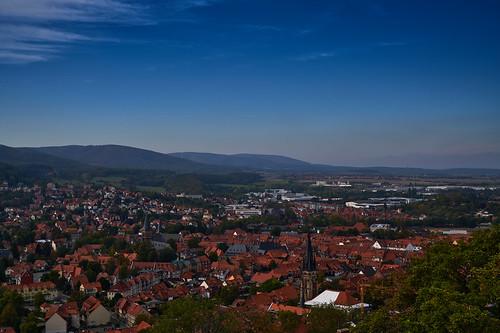 Blick vom Schloss Wernigerode
