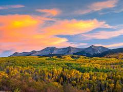 Kebler Pass Crested Butte Gunnison National Forest Peak Autumn Colors Fall Foliage Sunset! Colorado Red Orange Yellow Green Autumn Aspens Fuji GFX100 Fine Art Landscape Nature Photography! McGucken Medium Format Fuji GFX 100 & Fujinon Fujifilm GF Lens!
