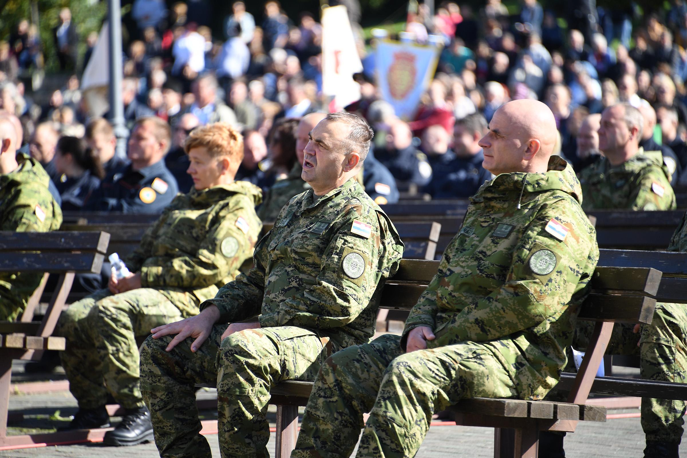 Hrvatska vojska na tradicionalnom hodočašću u Mariji Bistrici