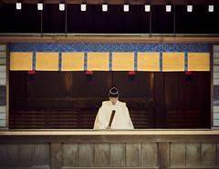 Shinto priest at Meiji Jingu