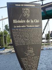 Musée Portuaire Dunkerque  panneau explicatif du Duchesse Anne (trois-mâts carré)