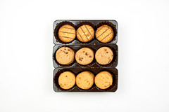 Delicious honey sweet meal cookies in a box