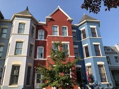 House colors on T Street NW, LeDroit Park, Washington, D.C.