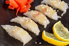 Japanese food sashimi platter, close up