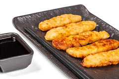 Delicious fish appetizer in a crunchy batter