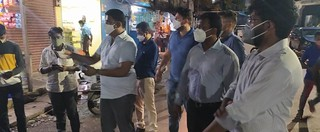 Masks Distribution with dc Sir at Junglighat fishers colony to Dairy Farm