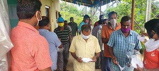 Masks Distribution at Dollygunj PBMC Site office