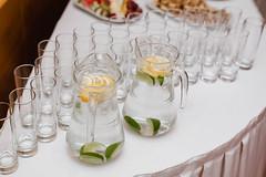 Lemon Water Glasses Served