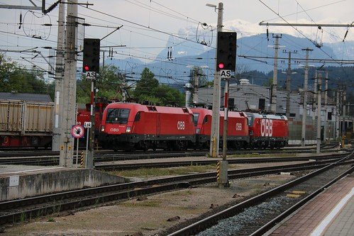 1016024-7 OBB 1016037-4 OBB 1293005-5 OBB & 1063044-0 OBB at Wörgl Hbf Austria 130519