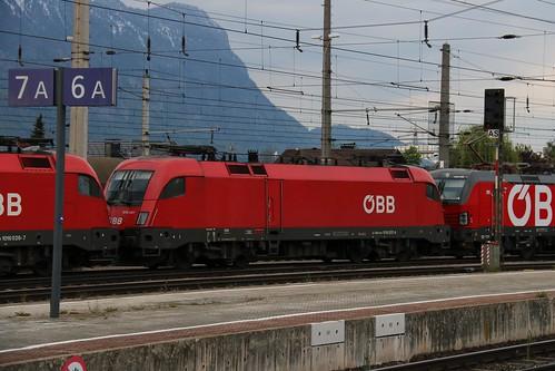 1016037-4 OBB 1016024-7 OBB 1293005-5 OBB at Wörgl Hbf Austria 130519