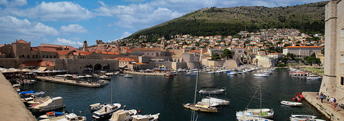 Dubrovnik old port with the feel of an open air museum