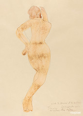 Rear View of Nude Female Figure in Action (1904) by Auguste Rodin. Original from The National Gallery of Art. Digitally enhanced by rawpixel.