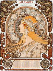 Zodiaque or La Plume (ca. 1896–1897) by Alphonse Maria Mucha. Original from The Art Institute of Chicago. Digitally enhanced by rawpixel.