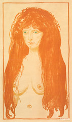 The Sin, Woman with Red Hair and Green Eyes (1902) by Edvard Munch. Original from The MET Museum. Digitally enhanced by rawpixel.