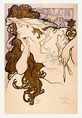 Salon des Cent poster (1896) by Alphonse Maria Mucha. Original from The Public Institution Paris Musées. Digitally enhanced by rawpixel.