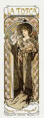 La Tosca, Sarah Bernhardt by Alphonse Maria Mucha (1869–1939). Original from The Public Institution Paris Musées. Digitally enhanced by rawpixel.