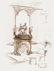 Sketch for a fireplace by Alphonse Maria Mucha (1869–1939). Original from The Public Institution Paris Musées. Digitally enhanced by rawpixel.