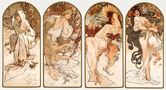 The Seasons (1897) by Alphonse Maria Mucha. Original from The Art Institute of Chicago. Digitally enhanced by rawpixel.