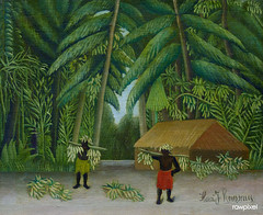 Banana Harvest (ca. 1907–1910) by Henri Rousseau. Original from Yale University Art Gallery. Digitally enhanced by rawpixel.
