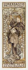 Lorenzaccio, piece en v actes, d'Alfred de Musset, adaptation de m. armand d'artois, Theatre de La Renaissance by Alphonse Maria Mucha (1869–1939). Original from The Public Institution Paris Musées. Digitally enhanced by rawpixel.