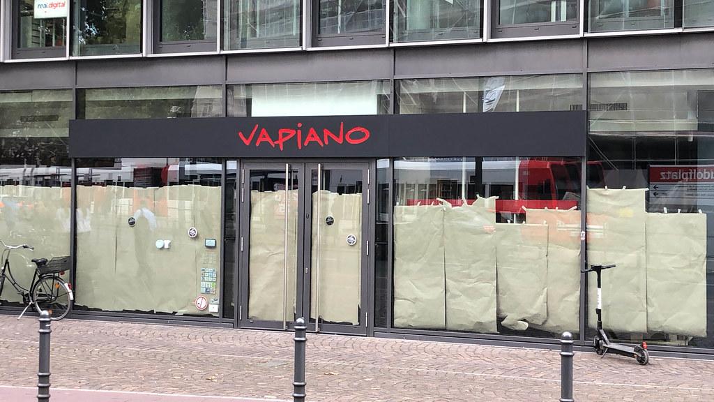 Vapiano-Filiale wegen Insolvenz geschlossen: ein ehemaliger Laden von der Restaurantkette in Köln