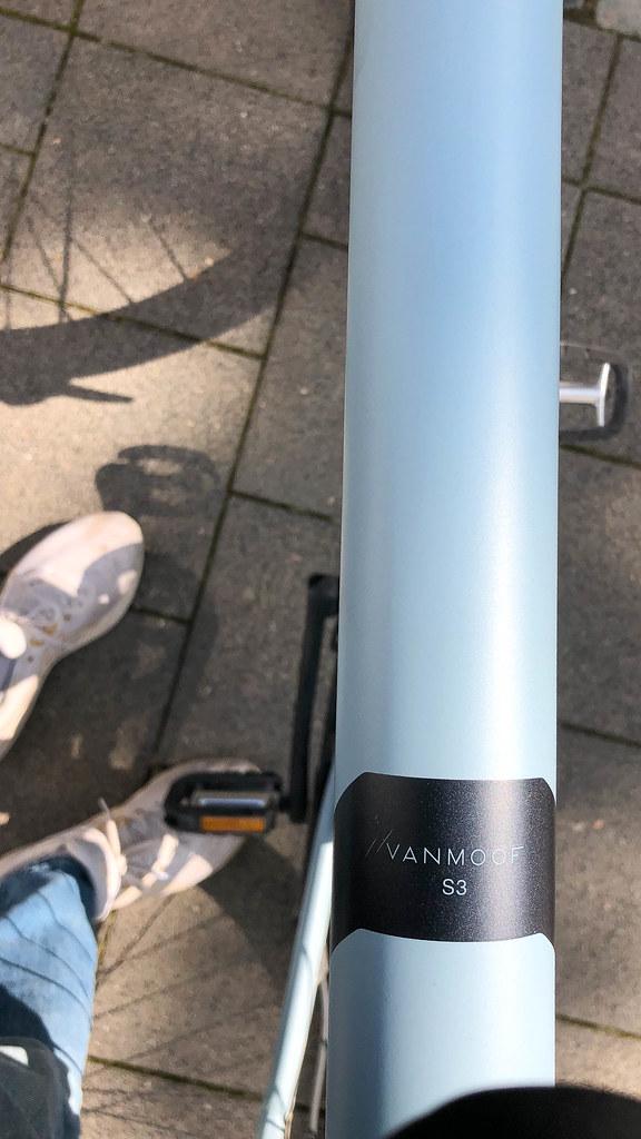 Detail of the Vanmoof S3 next-generation e-bike with award-winning design