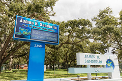 James B. Sanderlin COVID-19 Signage