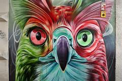 Arnhem: street art, owl by Dopie dsk